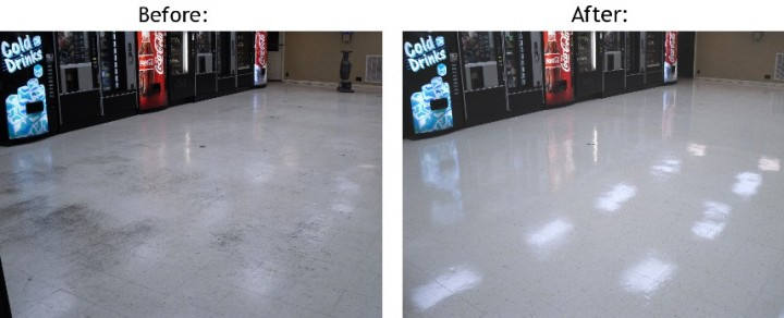 Before and After Floor Cleaning and Stripping in Gilbert, AZ