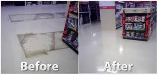 Before and After Floor Cleaning, Stripping and Waxing in Tempe, AZ
